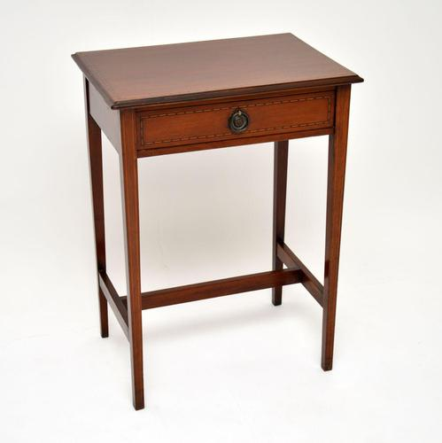 Antique Edwardian Inlaid Mahogany Side Table (1 of 9)