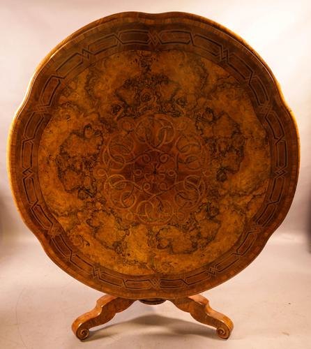 Stunning Quality Victorian Burr Walnut Centre Table Exhibition quality (1 of 15)