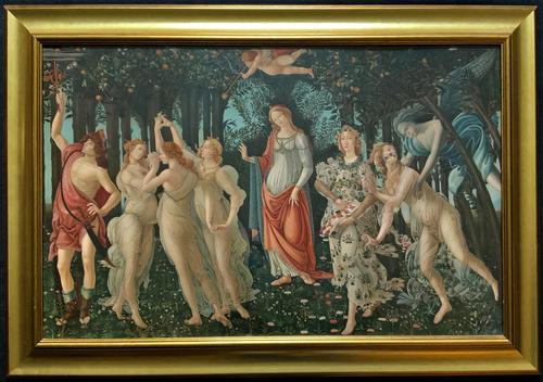 After Sandro Botticelli Large 20th Century Old Master Framed Coloured Print (1 of 13)