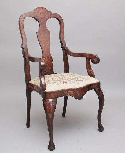 Early 19th Century Dutch Marquetry Armchair (1 of 12)