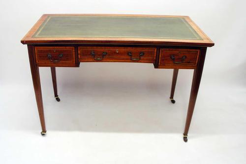 Victorian Jas Shoolbred Inlaid Mahogany Writing Table (1 of 24)