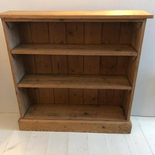 Late Victorian Pine Bookcase (1 of 7)