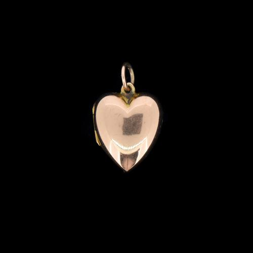 Antique 9ct 9K Gold Puffy Love Heart Locket Pendant Charm (1 of 8)