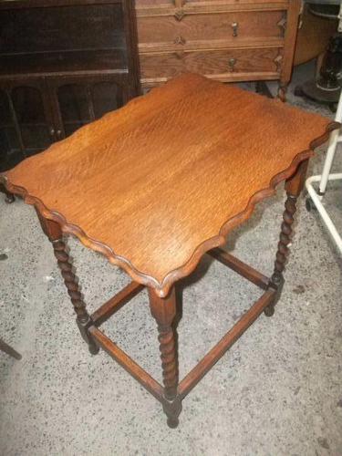 Oak Barley Twist Occasional Table (1 of 3)
