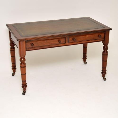 Antique Victorian Mahogany Leather Top Writing Desk (1 of 10)