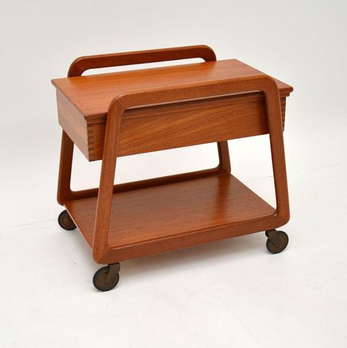 Danish Vintage Teak Sewing Table / Work Box (1 of 7)