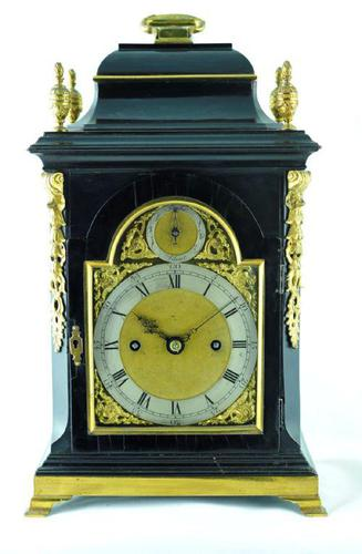 Rare Miniature Fusee Verge Bracket Mantle Clock - Made by John Johnson, London (1 of 12)