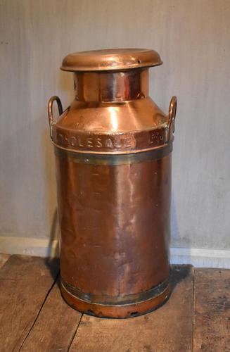 Large United Dairies Copper Milk Churn (1 of 7)