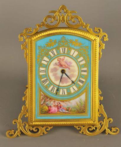 Thomas Cole Style Porcelain Dial Strutt Clock (1 of 12)