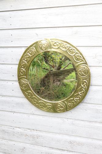 Arts & Crafts Movement Scottish / Glasgow School Circular Wall Mirror c.1900 (1 of 24)