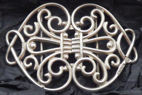Victorian 1899 Hallmarked Solid Silver Nurses Belt Buckle William Hutton (1 of 8)