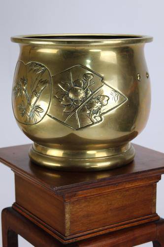 Antique Arts & Crafts Brass Planter / Jardinière (1 of 13)