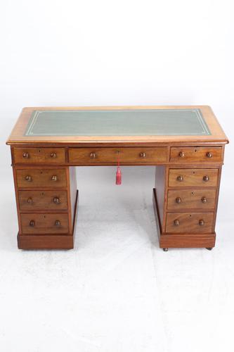 Victorian Mahogany Pedestal Desk (1 of 13)