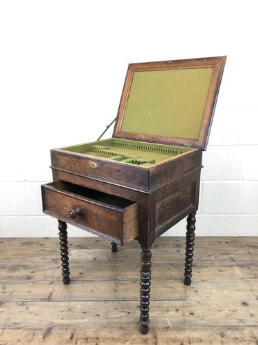 Early 19th Century Oak Box on Stand (1 of 12)
