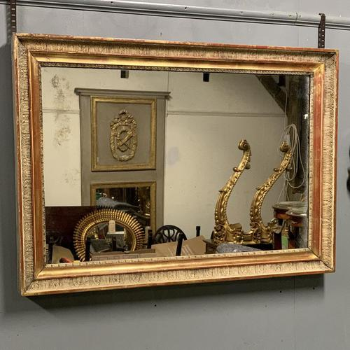 Large French landscape overmantle mirror (1 of 6)