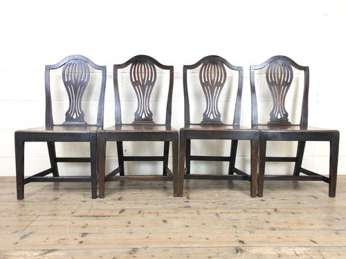 Set of Four Welsh Oak Farmhouse Chairs (1 of 10)