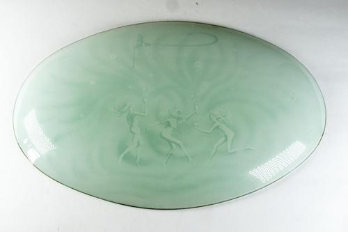 Lalique for Coty, Art Deco Green Glass Dish (1 of 4)