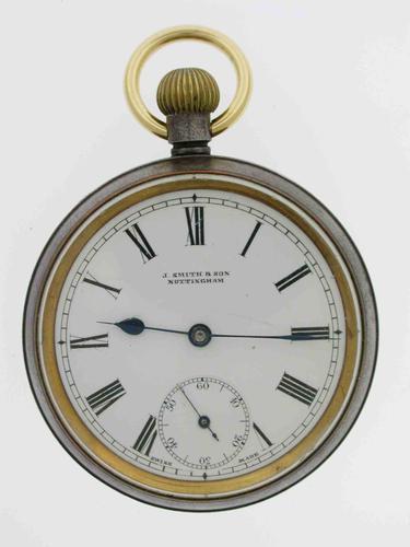 Omega Gunmetal Open Face Pocket Watch  Swiss 1900 (1 of 5)