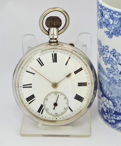 Antique 1895 English Silver Pocket Watch (1 of 5)