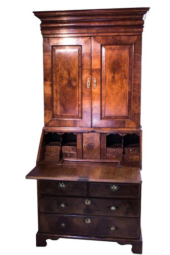 Walnut Bureau Bookcase - Early 18th Century (1 of 17)