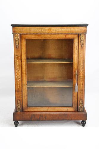 Victorian Walnut Pier Cabinet / Bookcase (1 of 13)