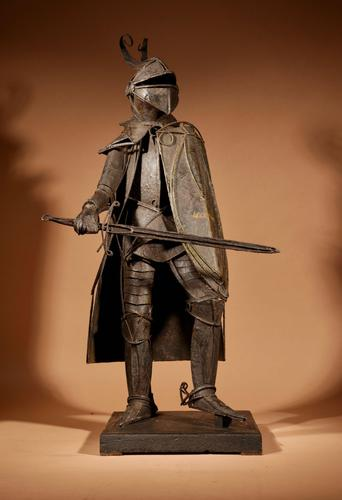 Large Model of Artistic Made Tin Plate Iron Knight Armour (1 of 10)