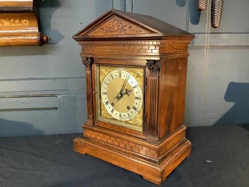 Victorian Mahogany Bracket Clock (1 of 3)