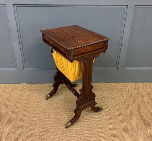 Regency Period Rosewood Work Table (1 of 15)