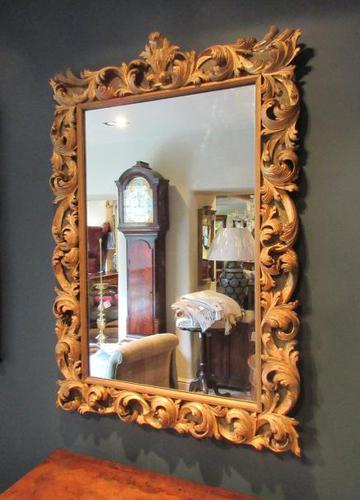 Fine Early Victorian Antique Timber Gilt Mirror (1 of 7)