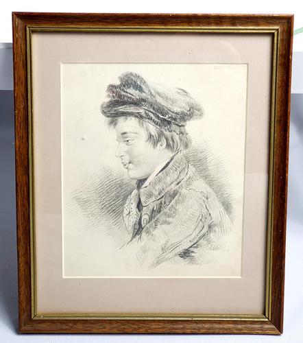 Pencil Sketch of Victorian Boy (1 of 4)