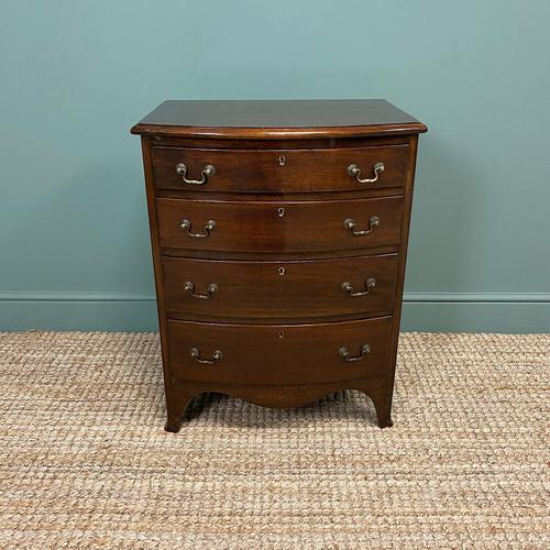Small Edwardian Mahogany Antique Bow Fronted Chest of Drawers (1 of 8)