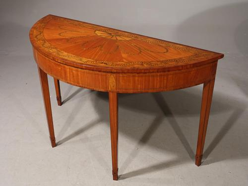 Fine Late 19th Century George III Style Demilune Pier Table (1 of 3)