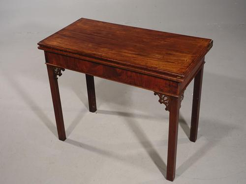 Good Chippendale Period Card Table (1 of 7)