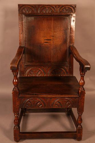 Good 17th Century Wainscot Armchair (1 of 13)