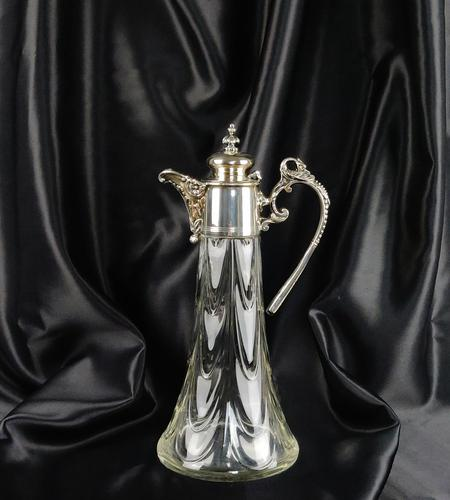 Silver Plated Claret Jug c.1900 (1 of 6)