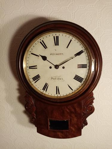 Twin-Fusee Drop Dial Wall Clock (1 of 5)
