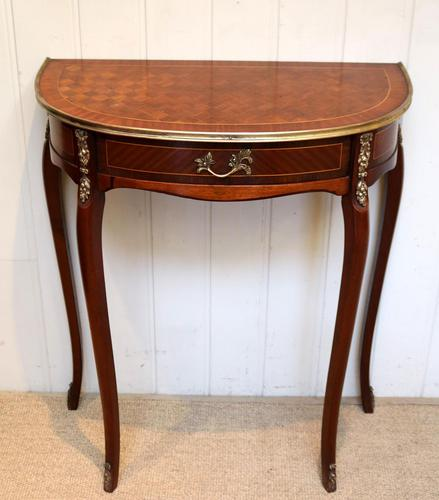 French Mahogany Demi Lune Table (1 of 10)