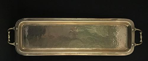 Arts & Crafts Planished Brass Drinks Tray (1 of 3)