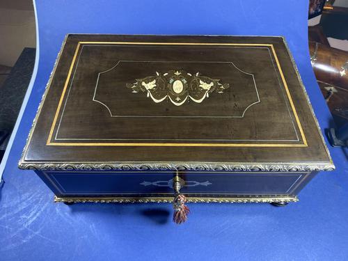 19th Century French  Ebonised Fruitwood Jewellery Box (1 of 18)