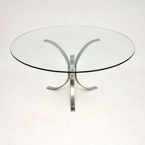 1960's Vintage Chrome & Glass Coffee Table (1 of 9)