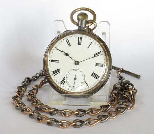 Antique Eterna Schild Fréres  gun metal pocket watch (1 of 4)
