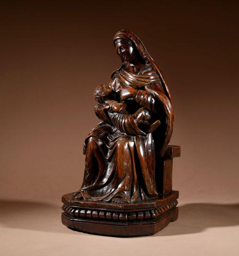 Charming Maria Lactans Sculpture Continental Early 18th Century (1 of 14)