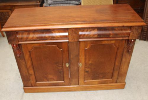 1900's Mahogany 2 Door Chiffoniere Base with Drawers (1 of 5)