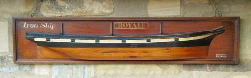 Antique Half Hull Iron Ship Royale (1 of 6)