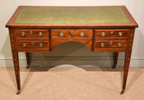 Regency Mahogany Writing Table Desk (1 of 8)