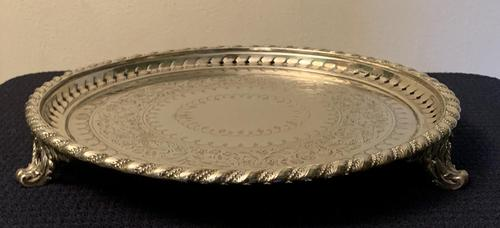Good Quality Victorian Silver Plate Tray (1 of 6)