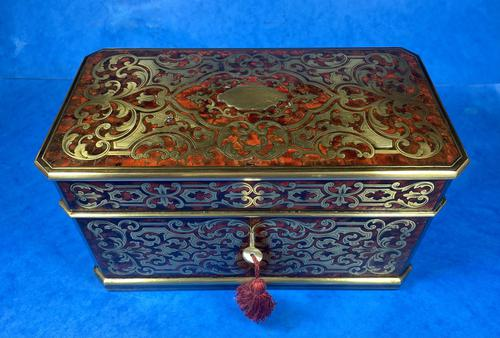 Victorian French Tortoiseshell Twin Canister Tea Caddy (1 of 17)