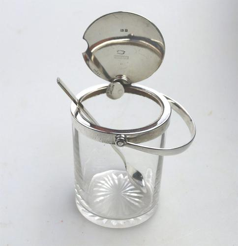 Asprey & Co Extremely Rare Solid Silver Novelty Automatic Opening Honey Jar c.1919 (1 of 11)
