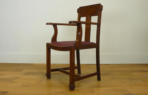 Attractive Arts & Crafts Oak Library Chair (1 of 14)