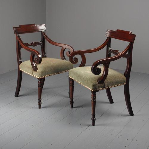 Pair of Late Georgian Mahogany Armchairs (1 of 16)